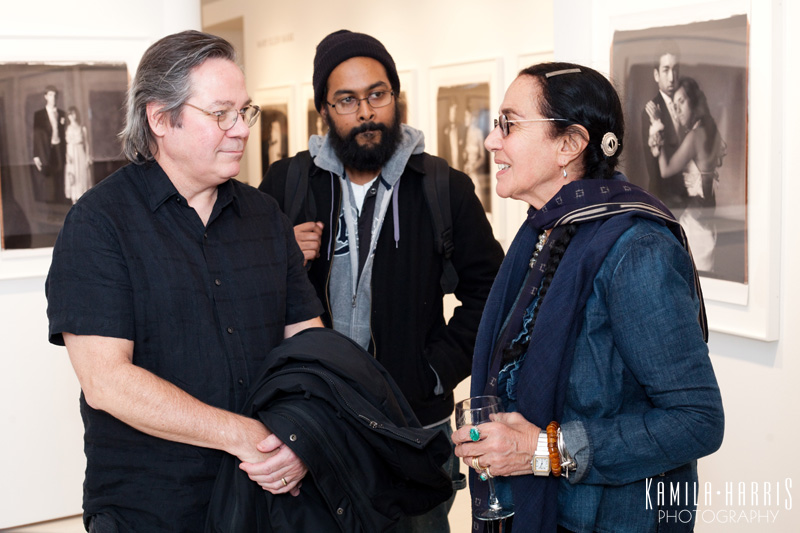 Mary Ellen Mark with John Reuter and Nafis Azad