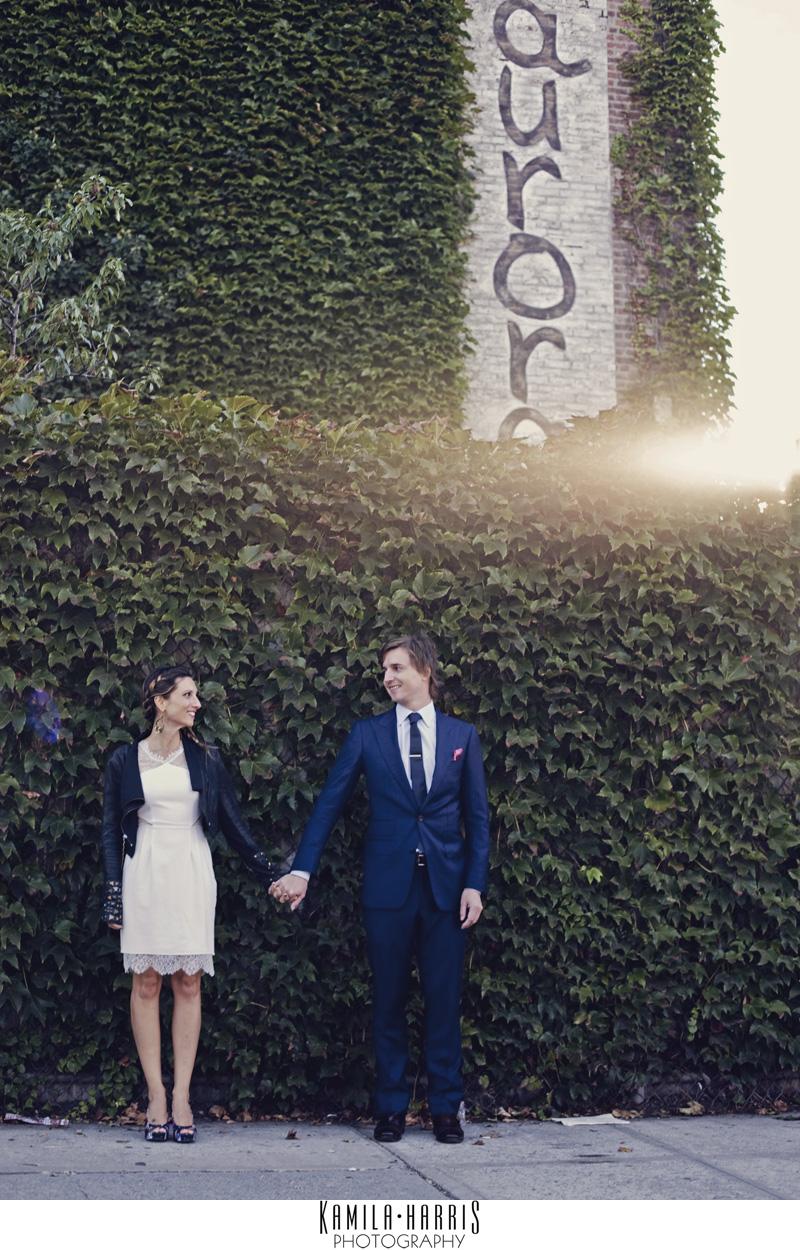 Brooklyn Wedding at Aurora Ristorante in Williamsburg, by Kamila Harris Photograph