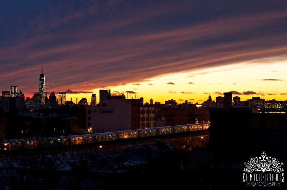 Sunset, NYC, Skyline, Kamila Harris Photography