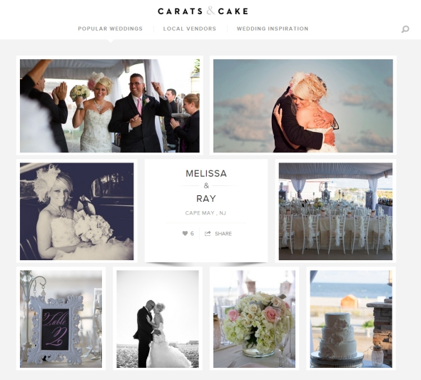 NJ Wedding Photographer Kamila Harris featured on Carats & Cake