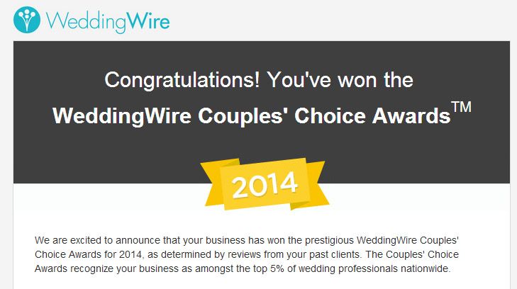 Wedding Wire Couples Choice Award Winner Kamila Harris Photography