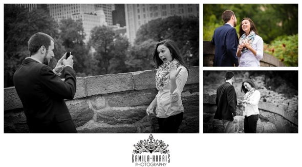 NYC Engagement Surprise Proposal Photography