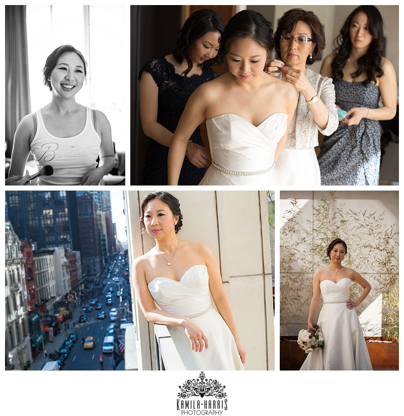 Bride Getting ready at Chambers Hotel Manhattan NYC