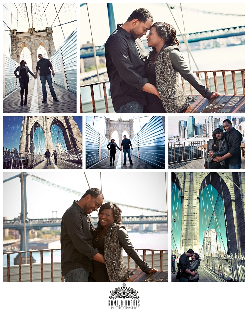 Brooklyn Bridge Engagement Photo