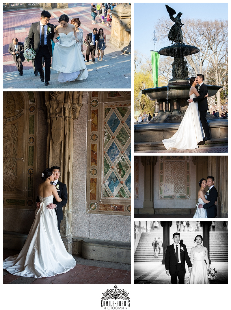 Central Park Bethesda Fountain The Mall Wedding Elopement Photography