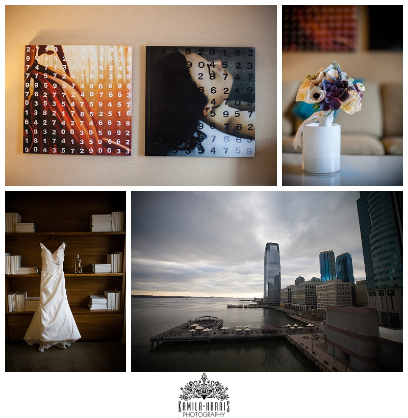 Hyatt Regency on the Hudson Jersey City NJ Wedding Photography Bride Getting Ready