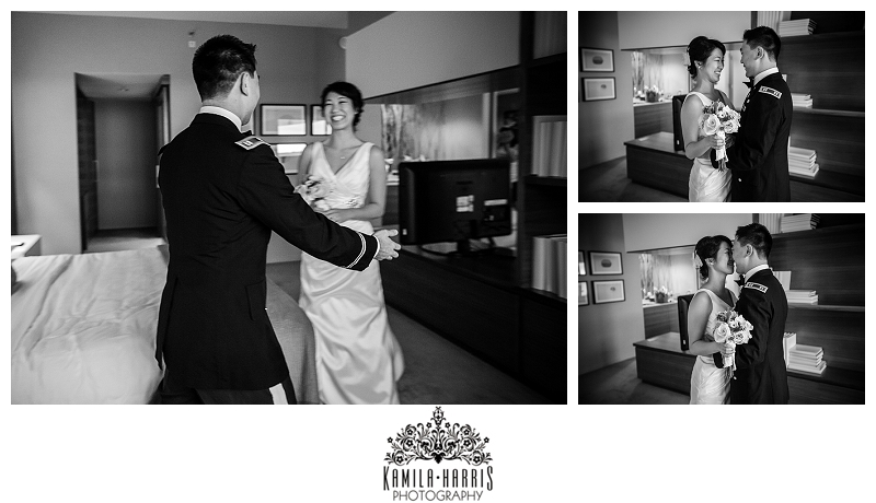 Hyatt Regency on the Hudson Jersey City NJ Wedding Photography Bride Getting Ready Jen Kim Made Flowers