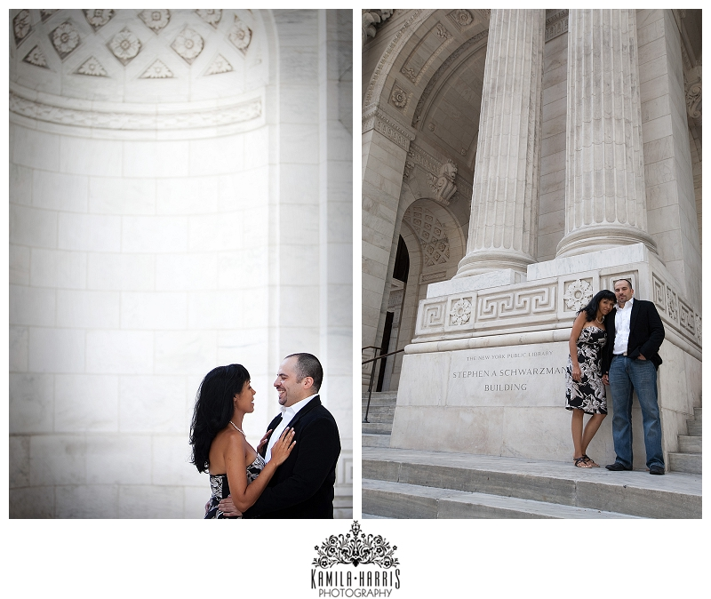 NYPL New York Public Library Engagement Photo Session NYC Engagement Photographer
