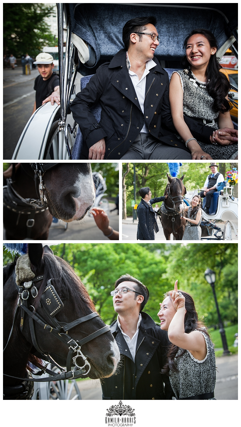 Central Park Carriage Ride Engagement Session, NYC, NYC Engagement, NY Engagement, Engagement Session, Engagement Photographer