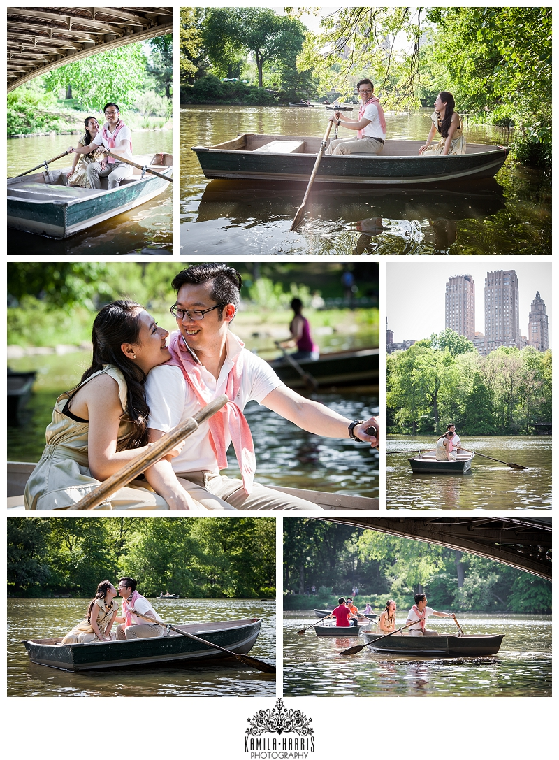 Central Park Boat House, Boat, Engagement Photo on a boat, Central Park Carriage Ride Engagement Session, NYC, NYC Engagement, NY Engagement, Engagement Session, Engagement Photographer