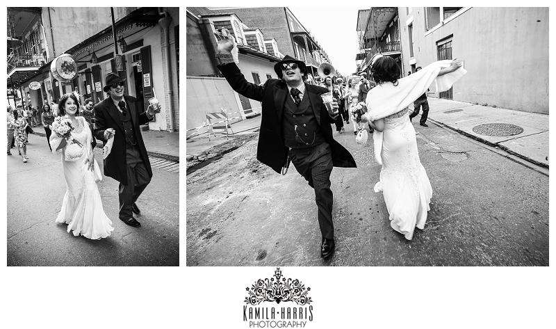 New Orleans, New Orleans Wedding, Hotel Provincial, NOLA, NOLA Wedding, NOLA Photographer, New Orleans Photographer, Wedding Second Line, Second Line, French Quarter