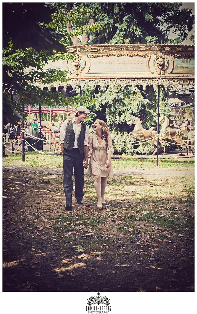 Fete Paradiso, Governors Island, NYC, NY, Carnival, French, Vintage, Photo Session, Anniversary, Just Because, Photos at a vintage carnival