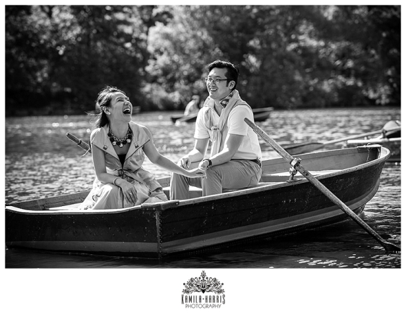 NYC, Engagement, Photography, Engagement Session, Engaged, Central Park, Bethesda, The Mall, Boats, Boathouse, View, City, Skyline, Boat Ride, Engagement Photos in a boat, Bow Bridge, Carriage Ride,