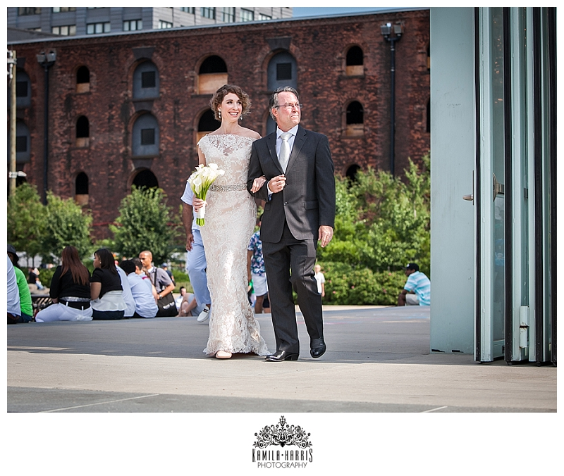 Brooklyn Bridge Park Ceremony, Wedding, NYC