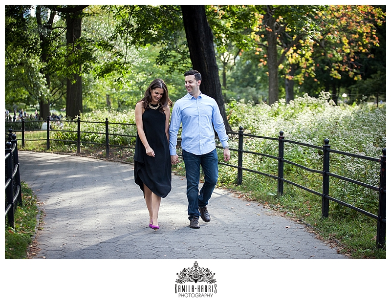 NYC, Couple, Central Park, Bethesda Fountain, Gapstow Bridge, Bow Bridge