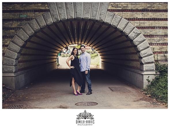 NYC, Couple, Central Park, Bethesda Fountain, Gapstow Bridge, Bow Bridge