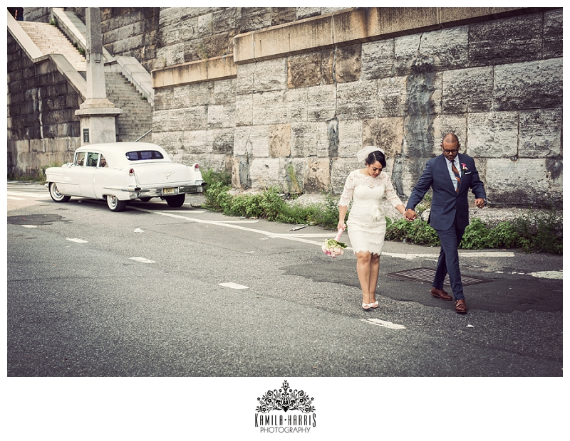 Covo Trattoria, Harlem, Rustic, Tuscan, Classic Car, 1956, Cadillac, Wedding, NYC, Manhattan, NY, Wedding Photographer