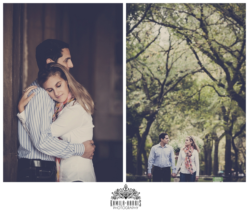 Central Park Engagement Session Bethesda Fountain Bow Bridge