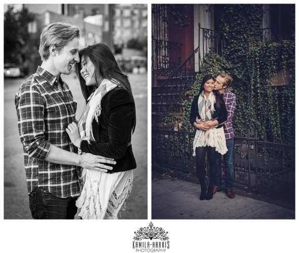 NYC West Village Manhattan Couples Photo Shot Kamila Harris Photography