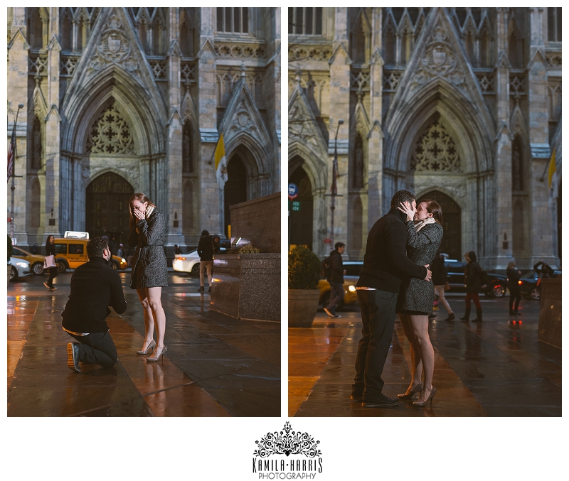 New York City Proposal Photography, St Patrick's Cathedral, Atlas, Rockefeller Center, Engaged, Engagement, Grand Central, Chrysler BuildingNew York City Proposal Photography, St Patrick's Cathedral, Atlas, Rockefeller Center, Engaged, Engagement, Grand Central, Chrysler Building