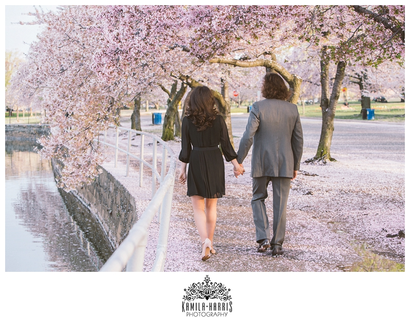 Washington DC Cherry Blossom Engagement SessionWashington DC Cherry Blossom Engagement Session
