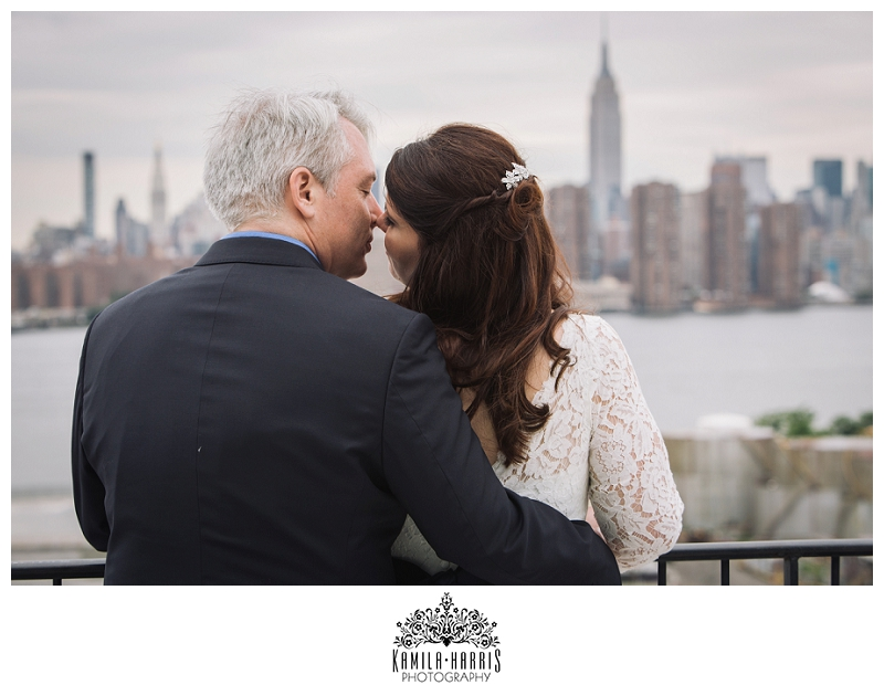 City Hall Manhattan Wedding, Reception in Brooklyn, Williamsburg, Aurora Restaurant