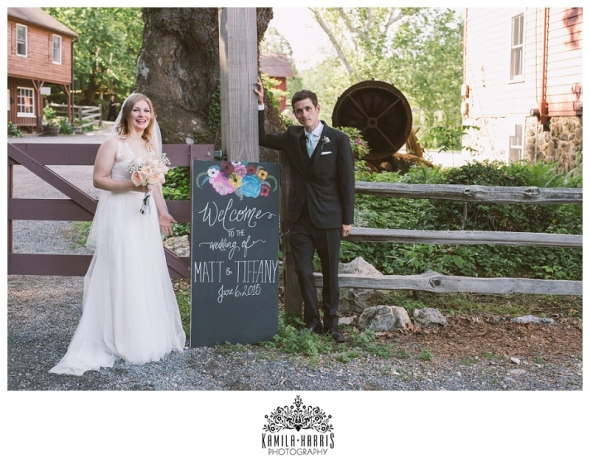 Red Mill Wedding, Clinton NJ, BHLDN, Bride, Groom,