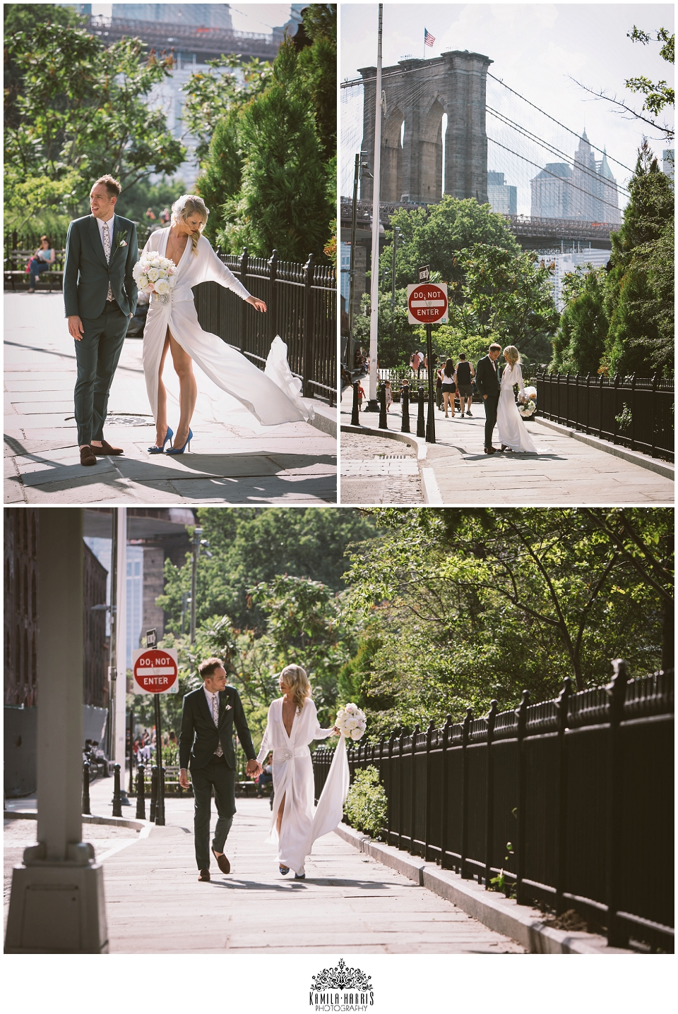 NYC Elopement Photography, Elope in NYC, Get Married in New York City, London, England, UK Couple gets married in NYC, Getting married in New York, Constantina Louise Wedding Gown