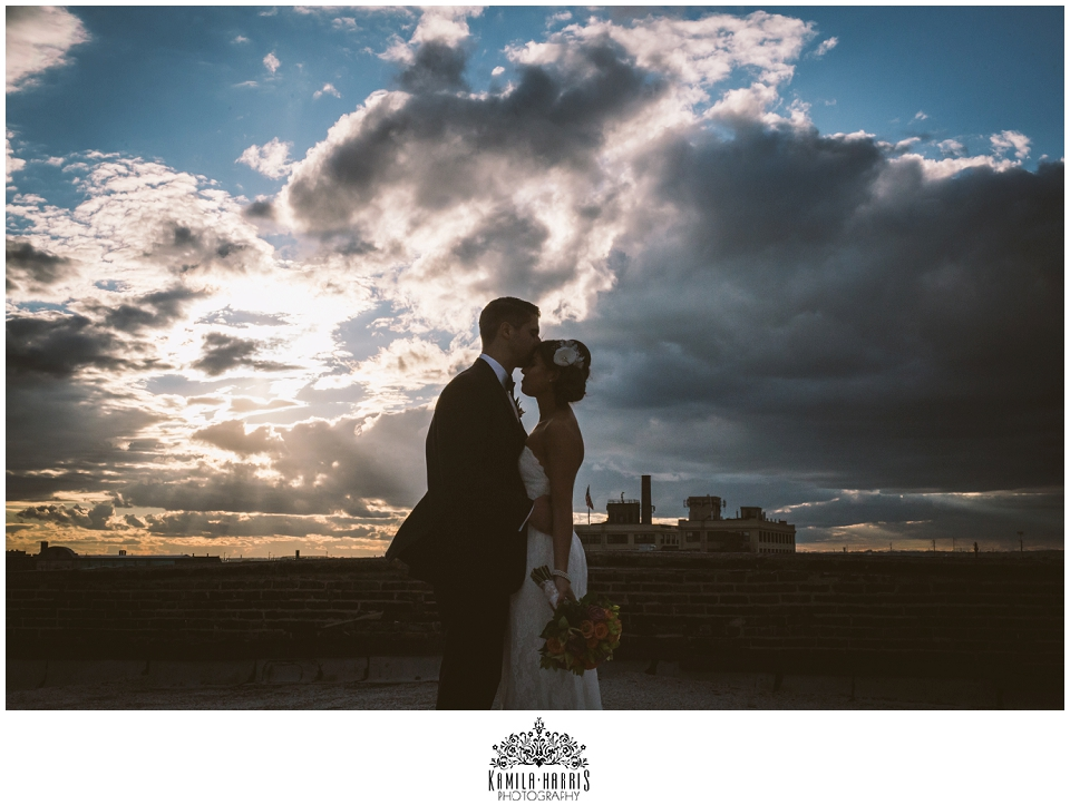 Philadelphia Wedding, Silhouette, Sunset, Cloudsac
