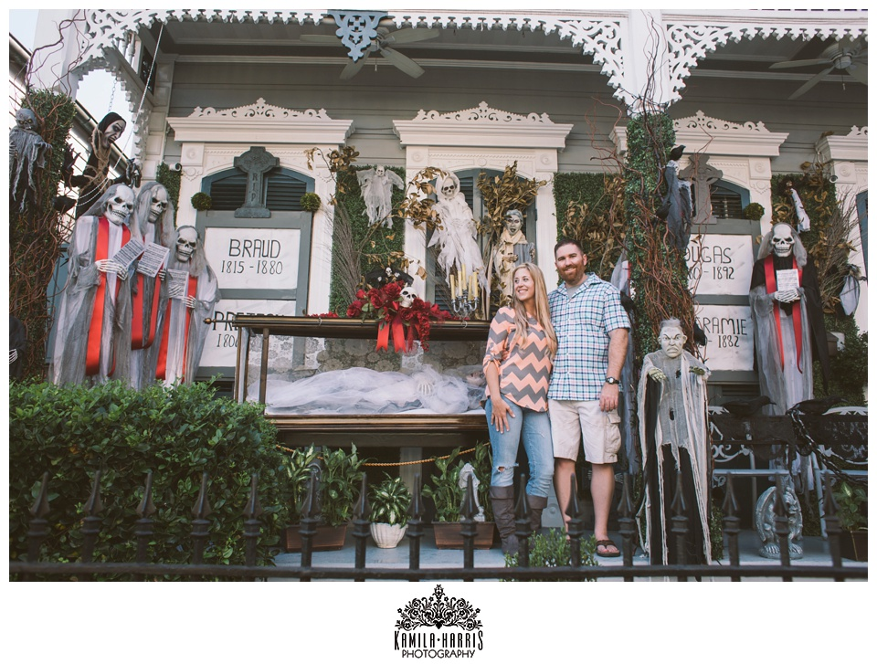 New Orleans French Quarter Engagement Session, Halloween, Haunted