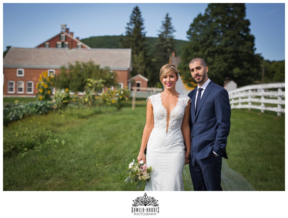 Hancock Shaker Village, Wedding, Massachusetts, Wedding Photo, Wedding Photographer, Sunflowers, September Wedding, Brain Aneurysm Survivor, New York Wedding Photographer