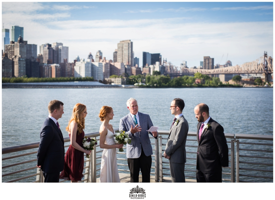 NYC Wedding, LIC, Long Island City, Gantry Plaza, Elopement, Small Ceremony, Small Wedding