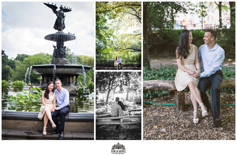 NYC Engagement Session, NYC, Central Park, Bethesda Fountain