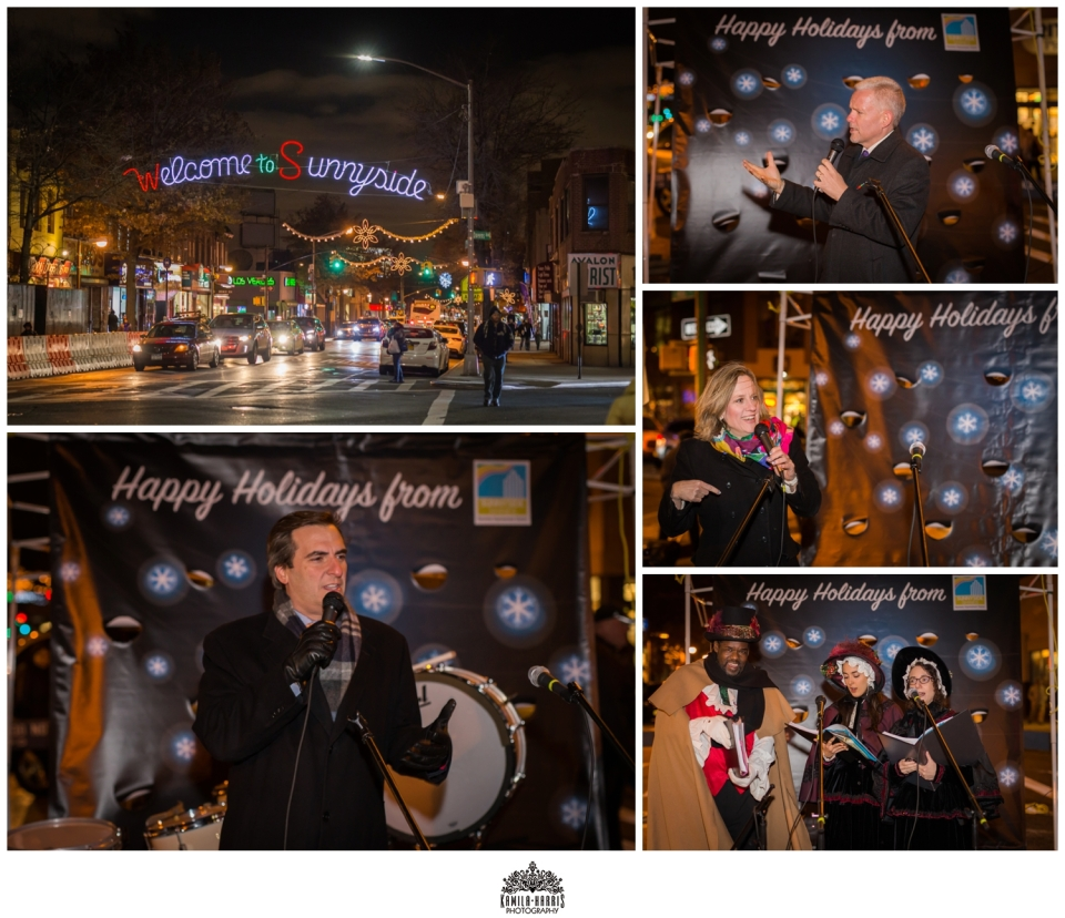 Sunnyside, Queens, Event Photographer, Holiday Lighting, Council Member Jimmy Van Bramer, Borough President Melinda Katz, Senator Michael Gianaris