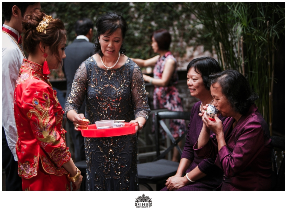 The Foundry; The Foundry Wedding; The Foundry Long Island City; LIC Wedding; Jose Rolon Events; Mela Rosa Florals; The Foundry Wedding Photographer; Queens Wedding Photographer, Chinese Tea Ceremony,