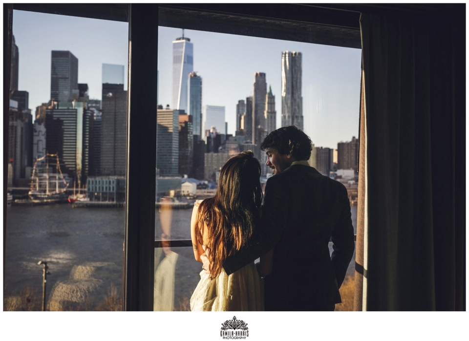 Brooklyn Elopement, Brooklyn Wedding, 1 Hotel, 1 Hotel Brooklyn Bridge, Elopement at 1 Hotel Brooklyn Bridge, Fabledresses Etsy,