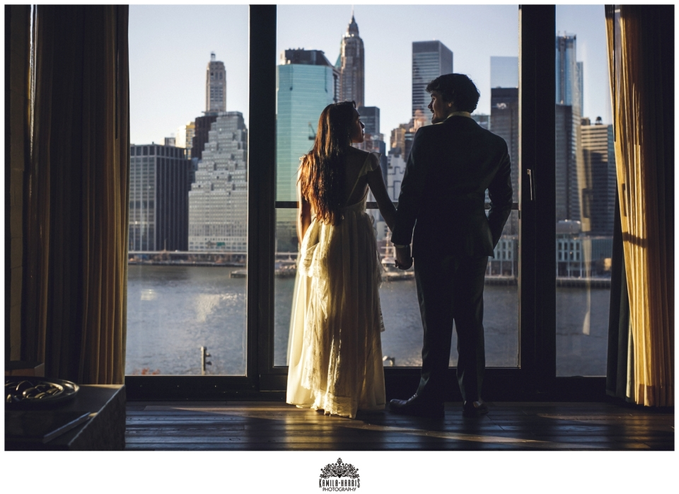 Brooklyn Elopement; Brooklyn Wedding; 1 Hotel; 1 Hotel Brooklyn Bridge; Elopement at 1 Hotel Brooklyn Bridge; Fabledresses Etsy