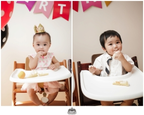 One Year Old Twins Photo Shoot And Cake Smash J Queens NY