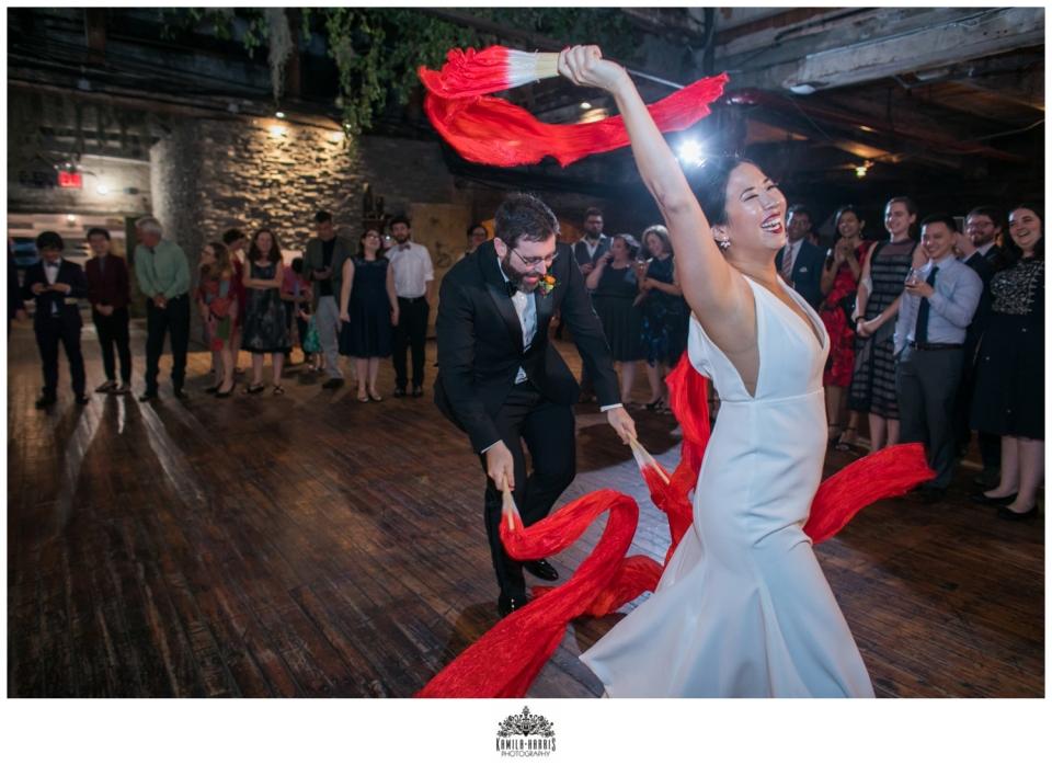 Lina Kreisberg;  Lili Anne Lopez; Momofuku; Stems Brooklyn; Party Rentals Ltd; Two Of a Kind Rentals; 74 Events;  Steven Frieder Band; We Cinema; Oh Snap Smile; Brooklyn Wedding; New York Wedding; Greenpoint Wedding; Greenpoint Loft;